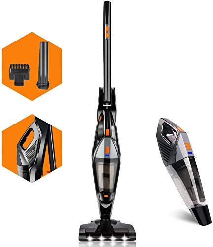 Cordless Vacuum, Hikeren 12000 PA Stick Vacuum Cleaner, 2 in 1 Lightweight Rechargeable Bagless Stick and Handheld Vacuum for Carpet Hardwood Floor Pet Hair