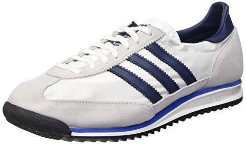 adidas SL 72, Chaussures de Running Compétition Homme, Blanc/Bleu Marine/Gris (Ftwbla/Maruni/Reabri), 44 2/3