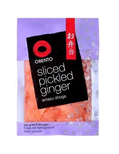 Obento Sliced Pickled Ginger Pink (Eingelegter Ingwer Pink in Scheiben), 100 g