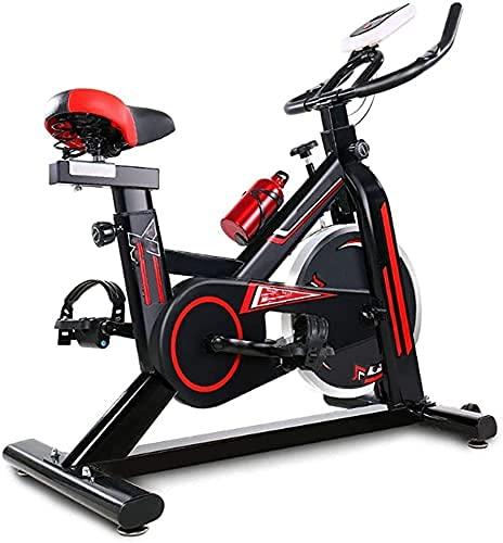 YXYY Bicicleta estática Vertical, Bicicleta estática para Interiores silenciosa con Pantalla LCD Mejora del Ajuste de Resistencia de la Promesa Pedal de aleación de Aluminio Adecuado para ejercic