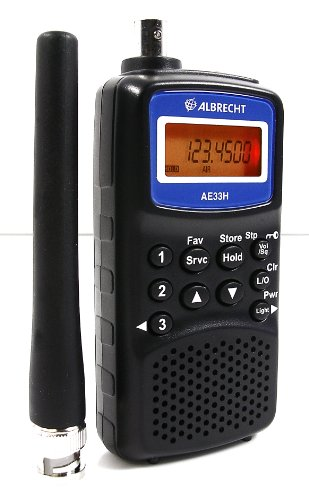 Albrecht ae-33h Radio-Receiver 180Kanäle, VHF, UHF, FM, Schwarz