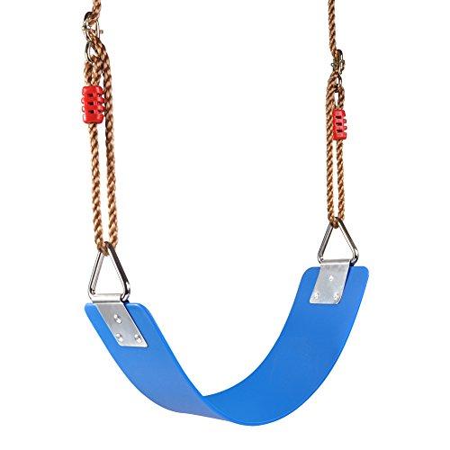 Juego completo de columpio que incluye asiento de columpio resistente, correas, cuerdas largas ajustables, carabro fuerte