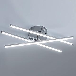Osairous Plafonnier LED, Lampe de Plafond LED Moderne 18W, Ø37CM Luminaire Plafonnier Design Linéaire à 3 Bras pour La Sal...