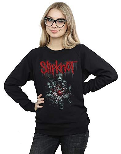 Absolute Cult Slipknot Damen Shattered Glass Sweatshirt Schwarz Medium