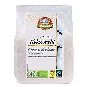 Proteína de coco orgánica 1.8 kg BIO baja en carbohidratos, 21% de proteína, 37% de fibra, comida cruda, polvo harina hecha en Austria de Sri Lanka cocos 6x300g