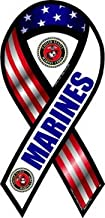 2-in-1 Red, White, and Blue Marines Ribbon Magnet