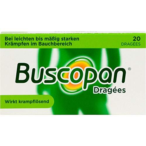 Buscopan Dragees bei Krämpfen des Magen-Darm-Traktes, 20 St. Tabletten
