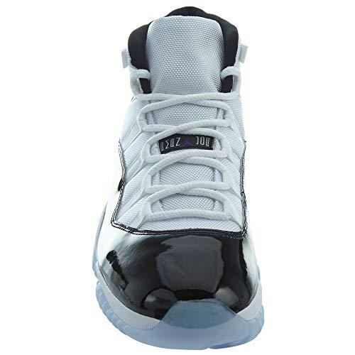Jordan Air 11 Retro, Zapatillas de Deporte Hombre, Multicolor (White/Black/Concord 100), 52 2/3 EU