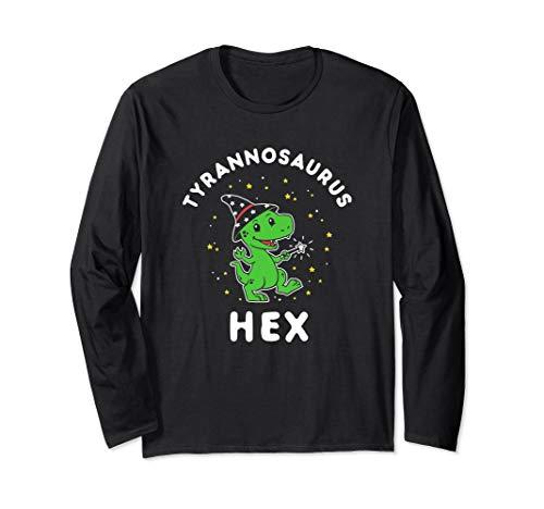 Tyrannosaurus Hex - Halloween Dinosaurier T-Rex Witz Langarmshirt
