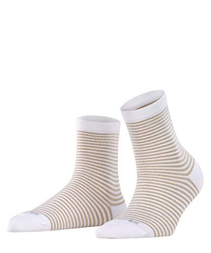 BURLINGTON Damen Socken Ladywell Ringlet - Baumwollmischung, 1 Paar, Weiß (White 2000), Größe: 36-41