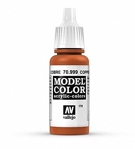 Vallejo, Model Color, Acrylfarbe, 17 ml Kupferfarben (Metallic Copper)