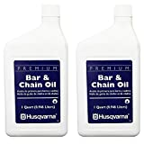 Husqvarna 610000023 Bar & Chain Oil, Quart (2 Pack)