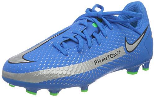Nike JR Phantom GT Academy FG/MG, Zapatillas de ftbol, Photo Blue Mtlc Silver Rage Green Black, 36.5 EU