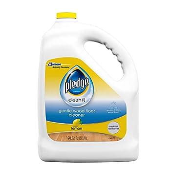 Pledge Wood Floor Cleaner Liquid Shines Hardwood Removes Dirt Safe and Gentle Lemon 1 Gallon