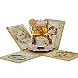 CHSYWH Totoro Caja de música para adultos compuesto juguete educativo regalo de cumpleaños fantasía bosque caramelo gato figuras hecho a mano caja de música caja de música