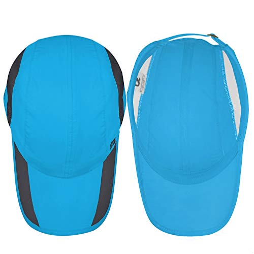 GADIEMKENSD Quick Dry Sports Hat Lightweight Breathable Soft Outdoor Running Cap Baseball Caps for Men (Sky Blue) - 7