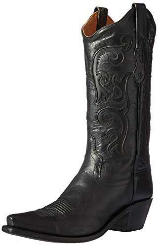 "Old West Women's 12"" Western Boot Snip Toe Black 5.5 M"