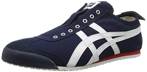 Onitsuka Tiger Unisex Mexico 66 Slip-on Shoes D3K0N, Navy/Off White, 10 M US