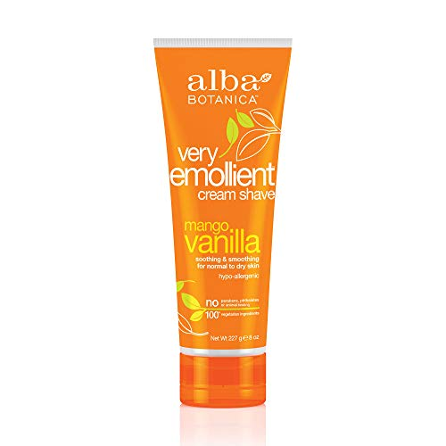 Alba Botanica Very Emollient Cream Shave Mango Vanilla - 8 oz by Alba Botanica