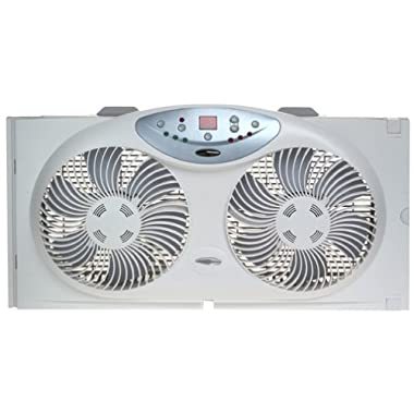 Bionaire BW2300-N Twin Reversible Airflow Window Fan with Remote Control