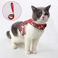 エスケーププルーフキャットベストハーネスリーシュセット調節可能な反射ハーネス猫用の柔らかく チェストストラップ子犬ペット用品