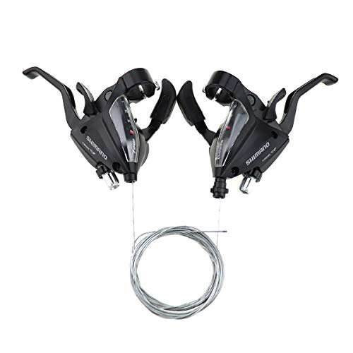 DZNTMY ST-EF500 - Juego de palancas de freno de bicicleta de 3 x 7 velocidades, palanca de cambios ST-EF500 de 3 x 7 velocidades, con cables interiores