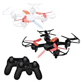 Battle Drones Remote Control Fighting Quadcopters Racing Flying Helicopter Toys with 2.4GHz 4 Channel 6-Axis Gyro, Infrared Emission, 3D Flips, Speed Adjustment, Pack of 2