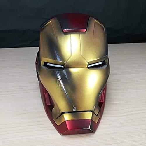 LINLIN Regalo Cosplay Costume di Iron Man Unisex elettronico Casco Supereroe Props Halloween Collectibles Live-Action vocale remoto Testa Piena Caschi,Red