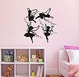 Hermosas Hadas Voladoras Tatuajes De Pared Creativos Diy Pegatinas De Pared Para Niños Habitación Decoración Del Hogar 58 * 63 Cm