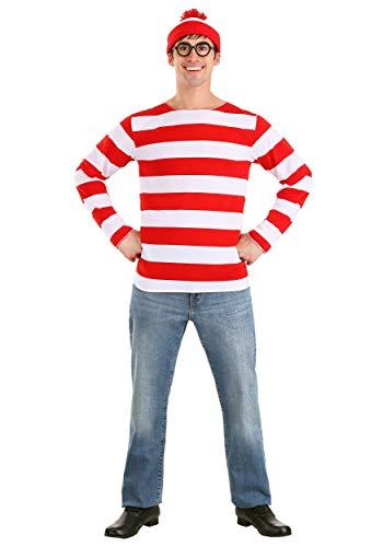elope Where's Waldo Costume Medium/Large Red