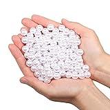 Vetro Perla Rotonde Perline per collane 180pz 12mm perline sfuse in plastica per riempitivi vaso/collane gioielli fai-da-te/Decorazione di nozze/festa di compleanno decorazione domestica (bianco 12mm)