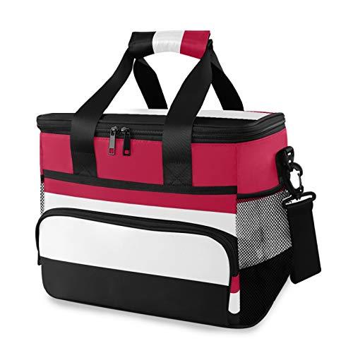 TropicalLife Kühltasche Jemen Flagge Picknick Kühltasche Box Isoliert Lunch Bag Box 24 Dosen (15L)
