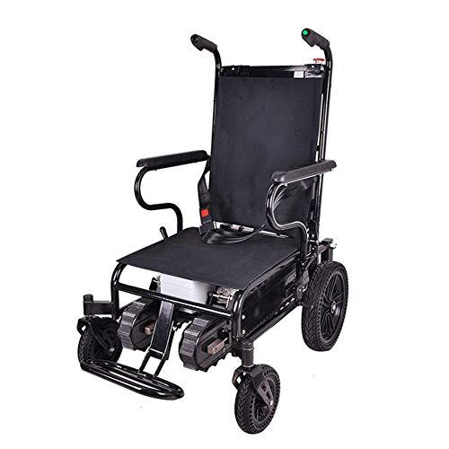 NMDD Zusammenklappbarer elektrischer Treppensteiger, Rollstuhl aus Aluminiumlegierung für ältere/behinderte Menschen, mit elektromagnetischer Bremse des ABS-Systems