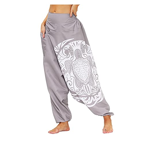 GuanXiao Drop Bottom Laástica Cintura Suelta Fit Baggy Gypsy Hippie Boho Aladdin Yoga Harem Pantalones para Mujeres y Hombres Hip Hop Transpirable Kimono Suelto (Color : YKJQ-006, Tamaño : XL)
