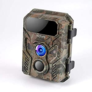 Victure Mini Wildlife Camera 16MP 1080P with Advanced Night Vision Motion Activated IP66 Waterproof for Wildlife Watching