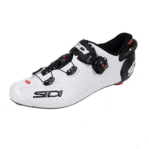 68320VAR - Zapatillas ciclismo bicicleta WIRE 2 CARBON AIR COLOR BLANCO/NEGRO TALLA 41
