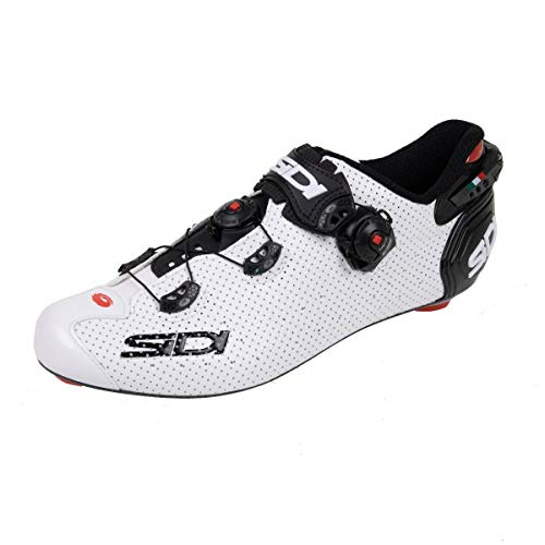 68320VAR - Zapatillas ciclismo bicicleta WIRE 2 CARBON AIR COLOR BLANCO/NEGRO TALLA 41
