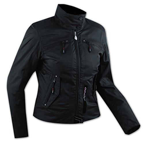 Damen Textil Wasserdicht CE Ruestung Thermofutter Jacke Motorrad Schwarz XL