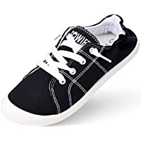 Sowift Womens Slip-On Canvas Sneakers