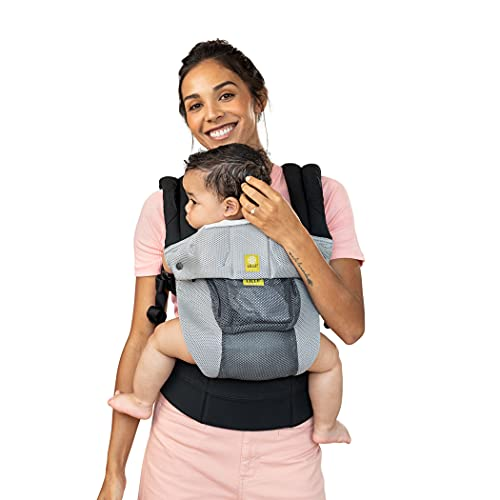 LÍLLÉbaby Complete Airflow All-Positions Baby Carrier, Newborn to Toddler, Lumbar Support, 7-45lbs, Charcoal/Silver