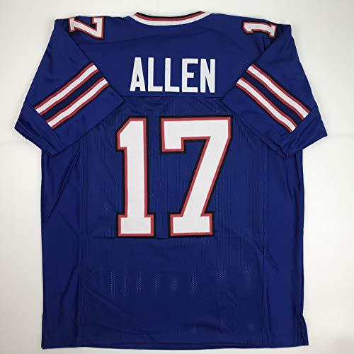 Unsigned Josh Allen Buffalo Blue Custom Stitched Football Jersey Size Men's XL New No Brands/Logos