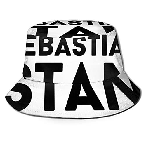 XCNGG Sebastian Stan Gorra de Playa Unisex Summer Sun Bucket Hat