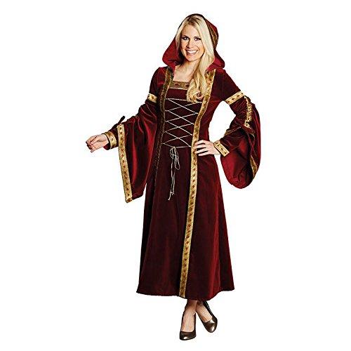NEU Damen-Kostüm Burgfrau Marianne, rot-Gold Gr.48