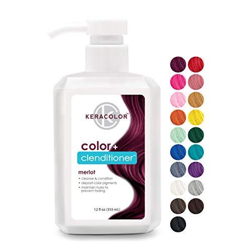 Keracolor Clenditioner MERLOT Hair Dye - Semi Permanent Hair Color Depositing Conditioner, Cruelty-free, 12 Fl. Oz.
