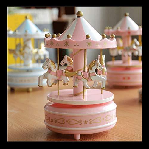 HSF Karussell-Musik-Box Music Box Geburtstags-Geschenk Freundschaft Mädchen Tanabata Valentinstag Mädchen Spieluhren (Color : Blue)