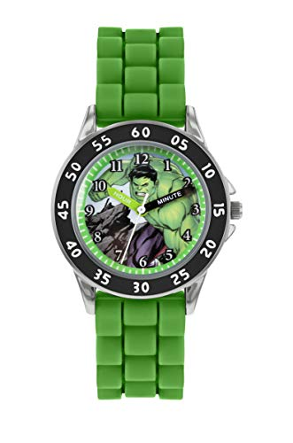 Avengers Boy's Analogue Analog Quartz Watch with Silicone Strap AVG9032