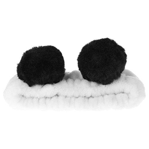 KINTRADE Femmes Mignon Panda Oreille Bandeau Maquillage Pommeau De Douche Enveloppez Hairband Face Spa Élastique