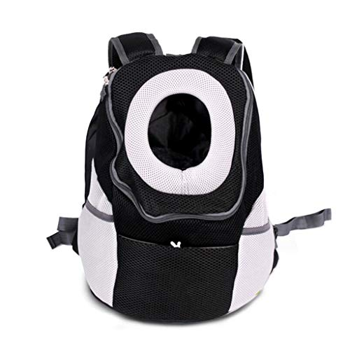 YULAN Front Shoulder Pet Cage Cage Backpack Cat And Dog Portable Travel Transport Car Out Of Consignment Multicolor (Color : Black, Size : 38 * 20 * 42cm)