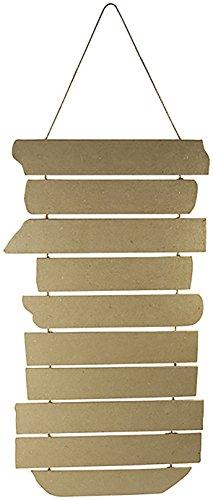 Décopatch HD044C Wegweiser zum Aufhängen 10-teilig (aus Pappmaché zum Verzieren und Personalisieren, praktisch, ideal für Ihre Hausdeko, 27 x 0,6 x 65 cm) 1 Stück kartonbraun
