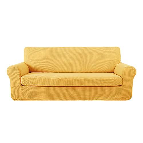 Deconovo Funda para Sofá Prodector del Mueble 3 Plazas 185 x 83 x 89 cm Amarillo